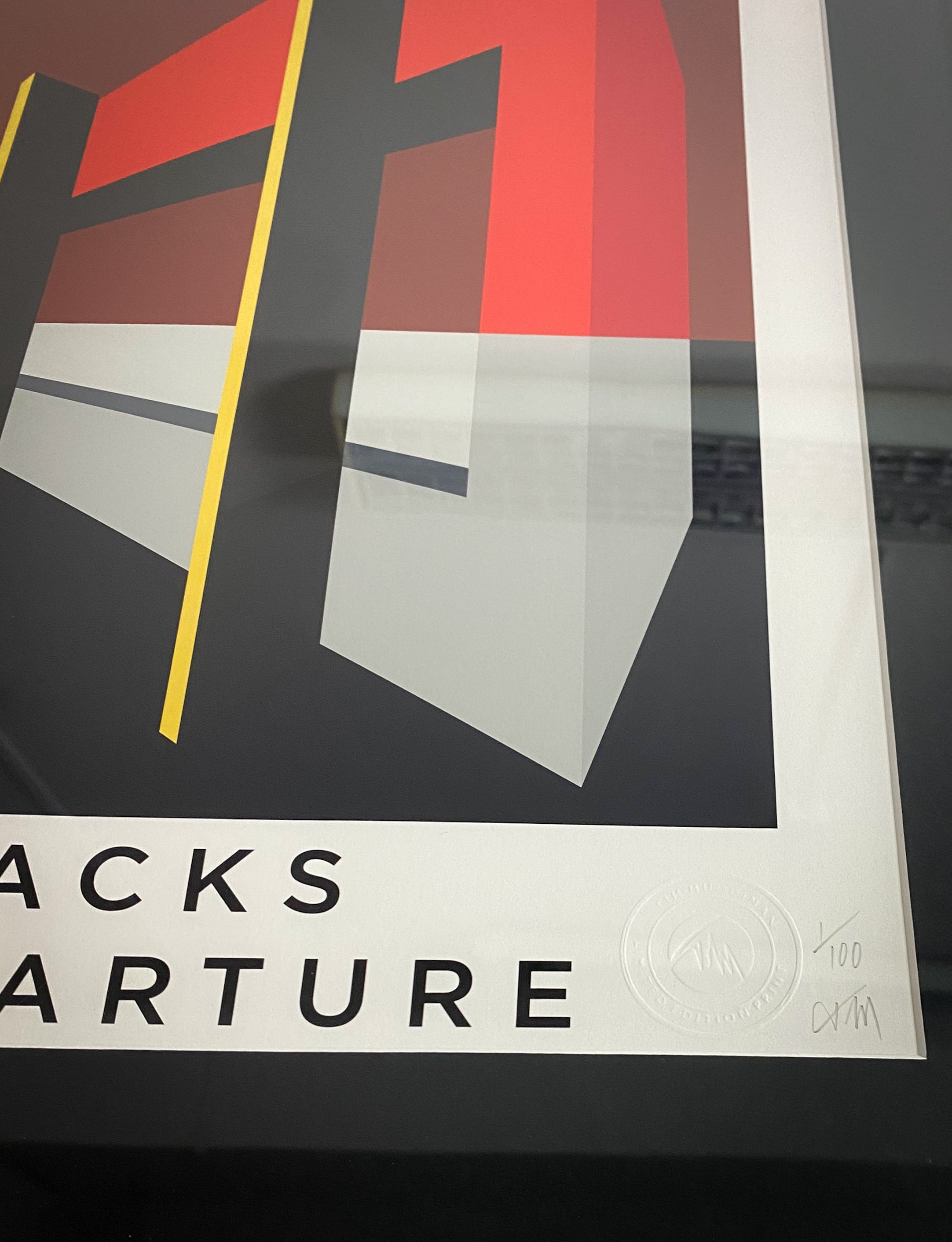 JACKS DEPARTURE. Limited Edition Giclee Print