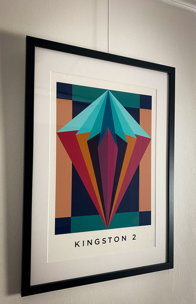 Title: KINGSTON 2  .  A2 Framed, Limited Edition Giclee Print