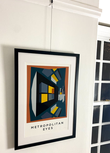 Title: METROPOLITAN EYES  .  A2 Framed, Limited Edition Giclee Print