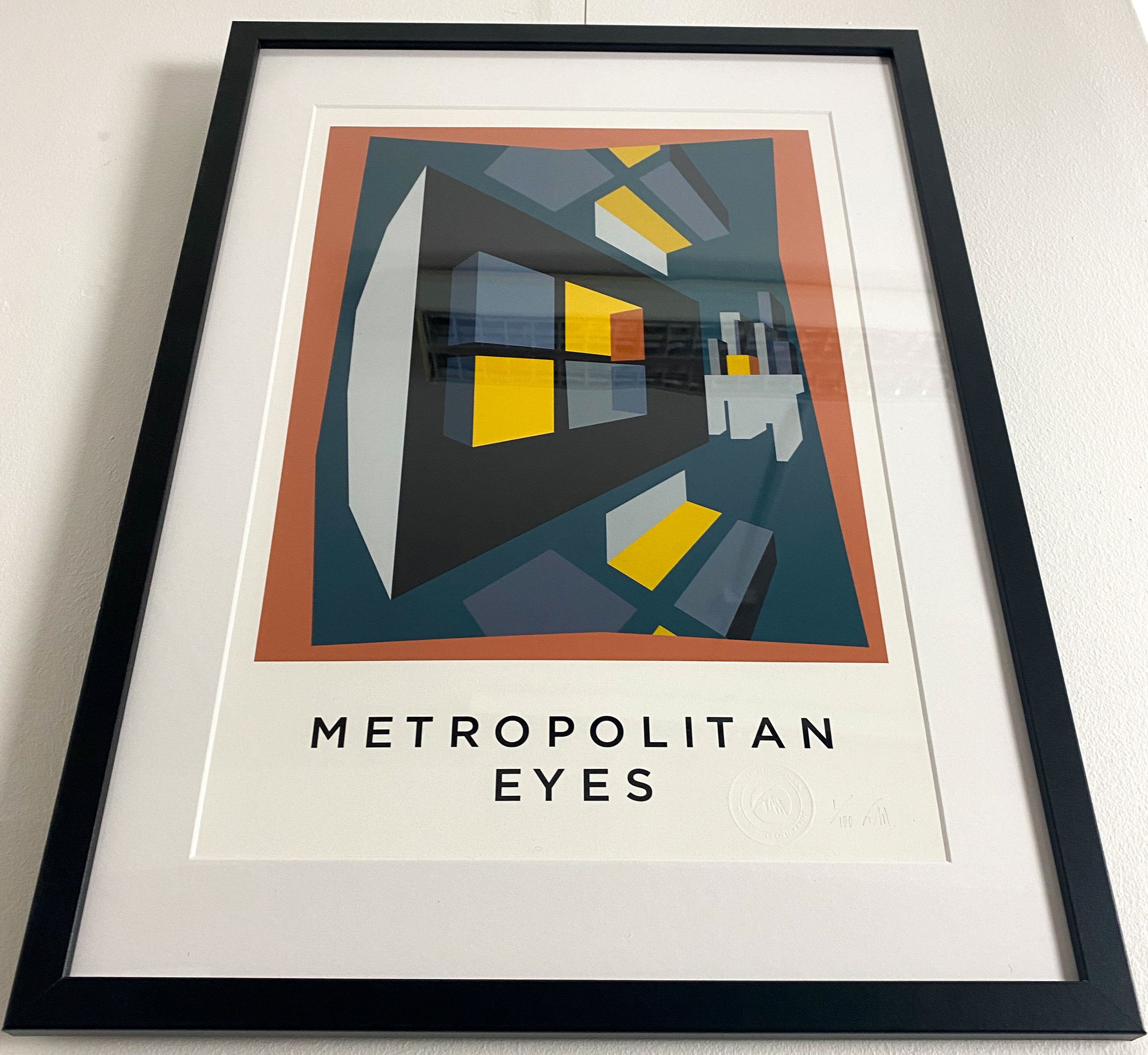 METROPOLITAN EYES.  Limited Edition Giclee Print