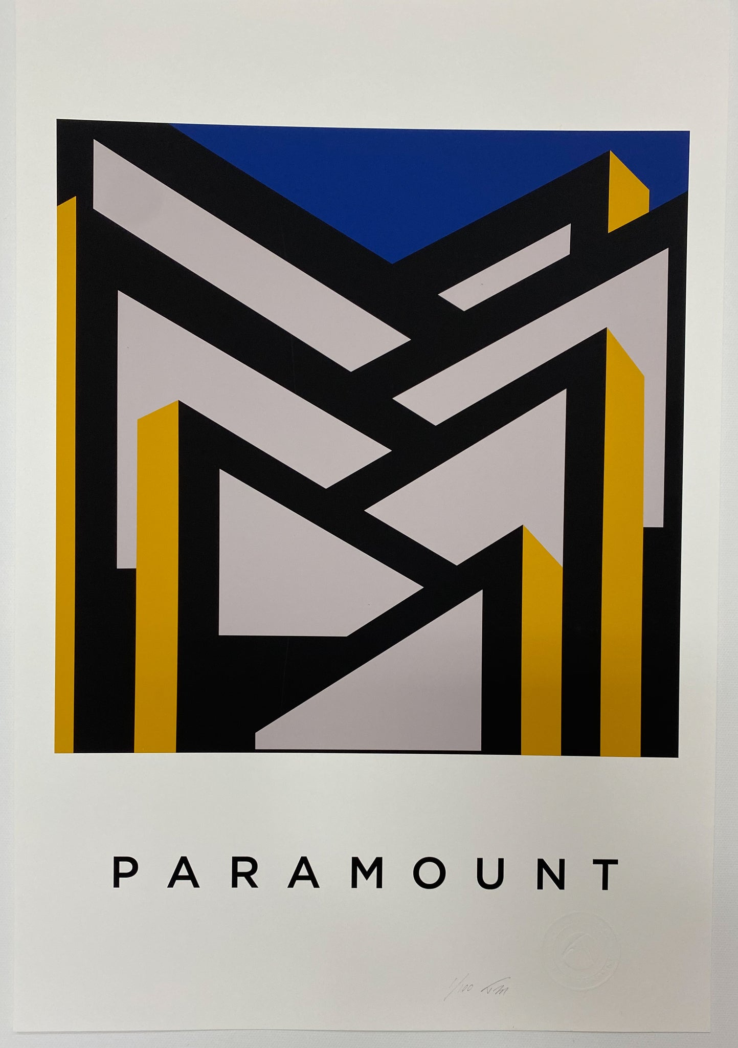Title: PARAMOUNT  .  A2 Framed, Limited Edition Giclee Print