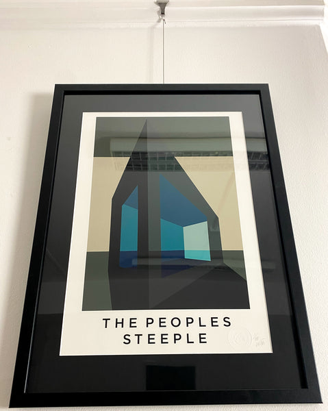 Title: THE PEOPLES STEEPLE  .  A2 Framed, Limited Edition Giclee Print