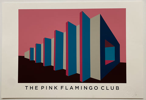 Title: PINK FLAMINGO  .  A2 Framed, Limited Edition Giclee Print