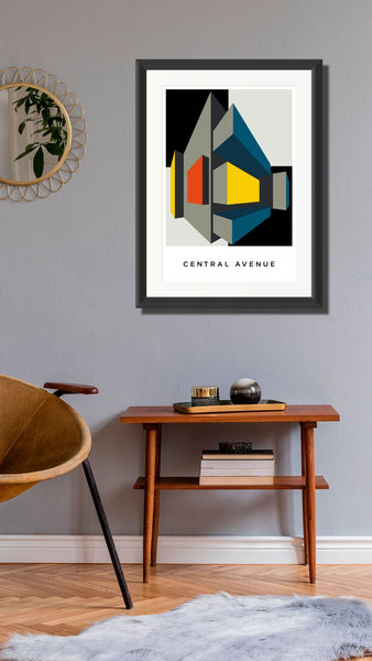 Central Avenue.  A2 Framed, Limited Edition Giclee Print