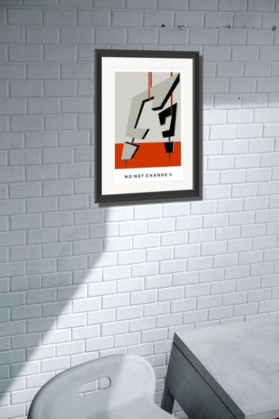 No Net Change II  A2 Framed, Limited Edition Giclee Print