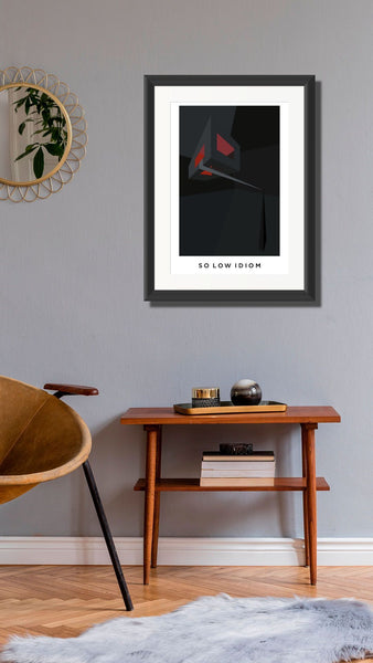 So low Idiom  A2 Framed, Limited Edition Giclee Print