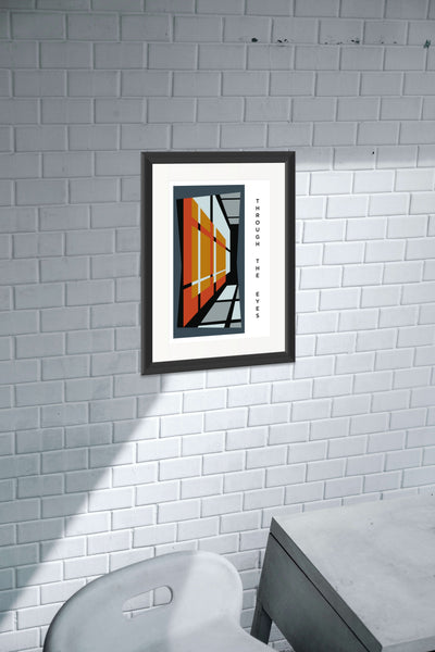THROUGH THE EYES.  A2 Framed, Limited Edition Giclee Print