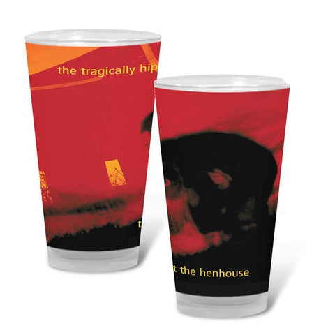 THE TRAGICALLY HIP Trouble at the Henhouse Pint Glass