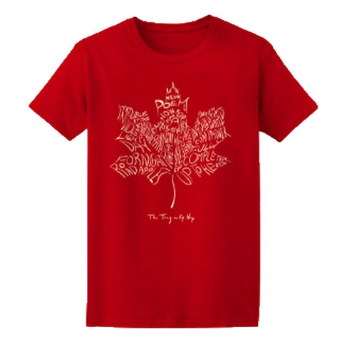 THE TRAGICALLY HIP Leaf Album Red T-Shirt