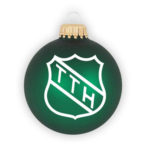 THE TRAGICALLY TTH Shield Logo Green Ornament