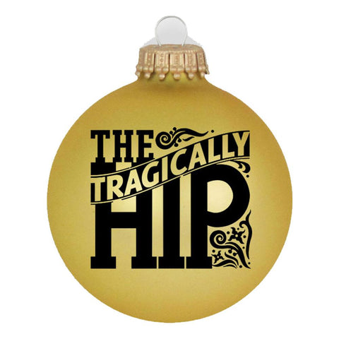 THE TRAGICALLY HIP Floral Logo Gold Ornament