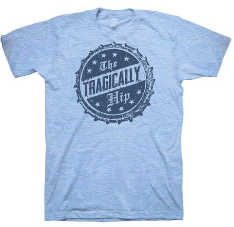 THE TRAGICALLY HIP Bottle Cap Blue T-Shirt