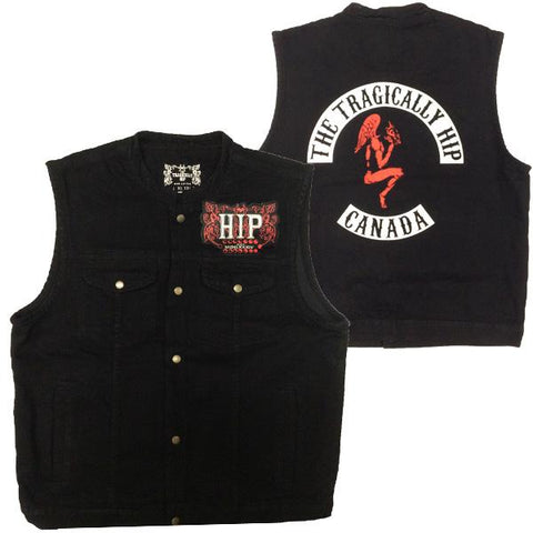THE TRAGICALLY HIP Black Denim Vest