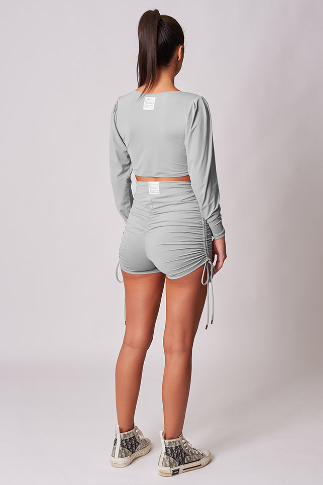 GREY-HIGH-WAISTED-DRAWSTRING-DETAIL-BOOTY-SHORT