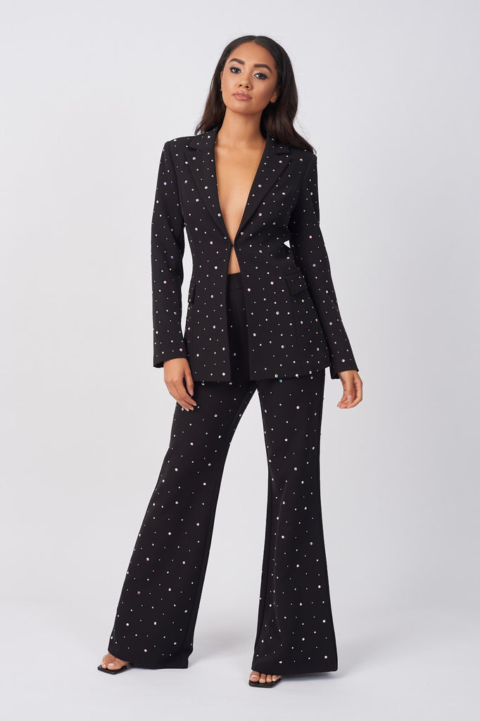PRN03-BLACK-DIAMANTE-EMBELLISHED-SHOULDER-PAD-BLAZER