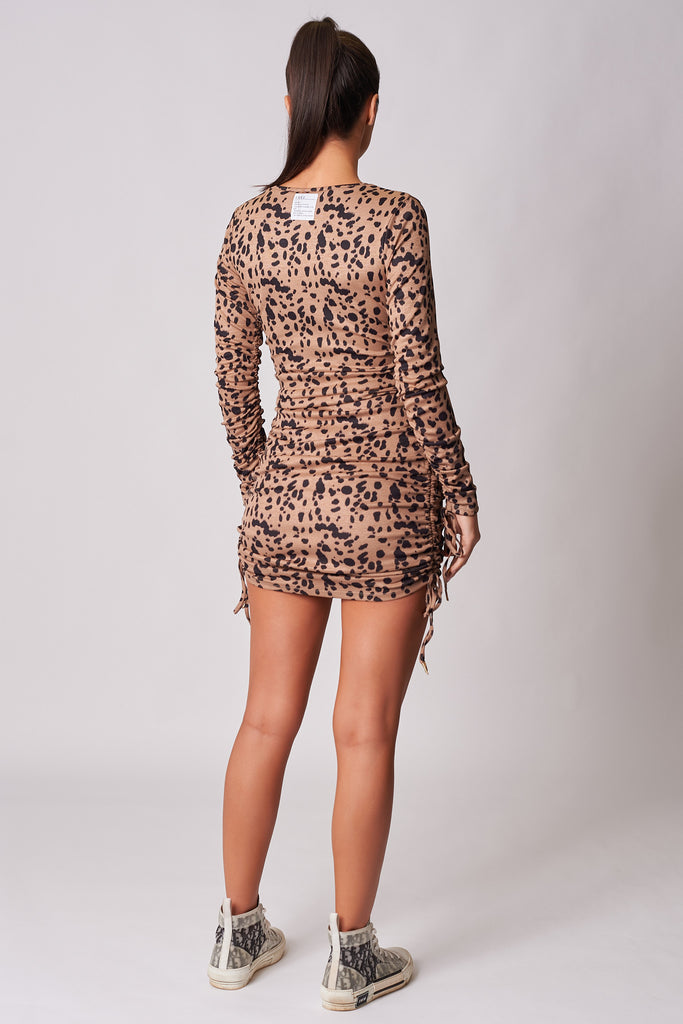 ANIMAL-PRINT-TIGER-PRING-DRAWSTRING-DETAIL-BODYCON-MINI-DRESS