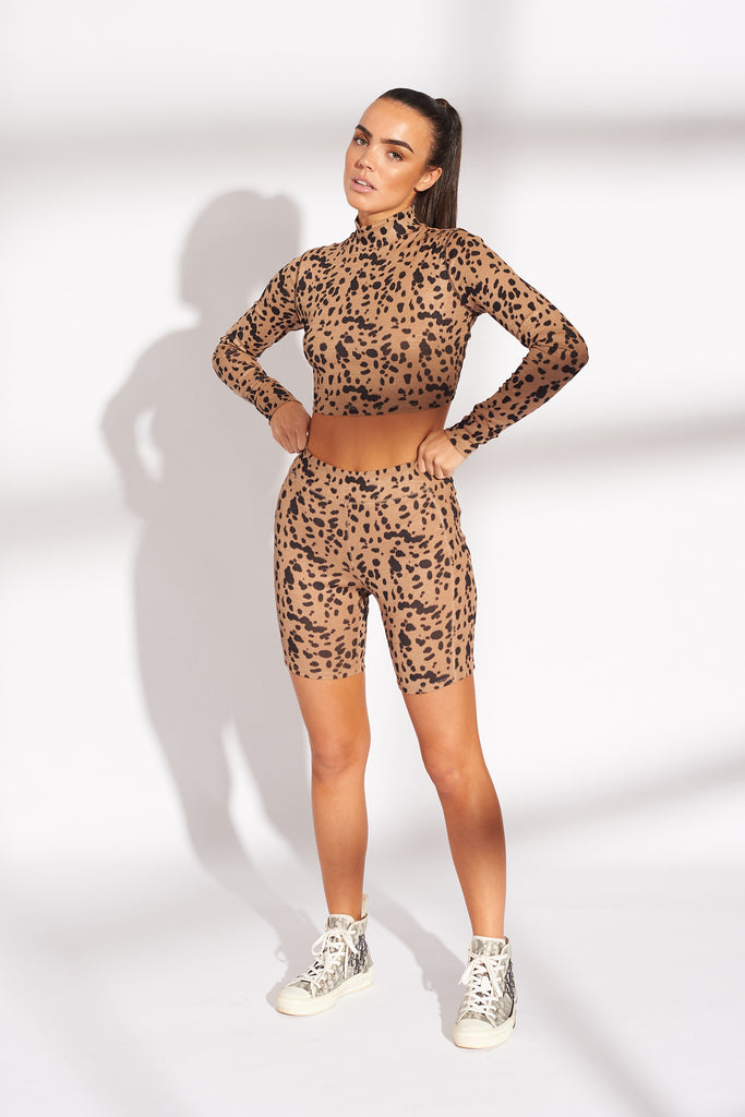 ANIMAL-PRINT-TIGER-PRINT-CYCLING-SHORTS