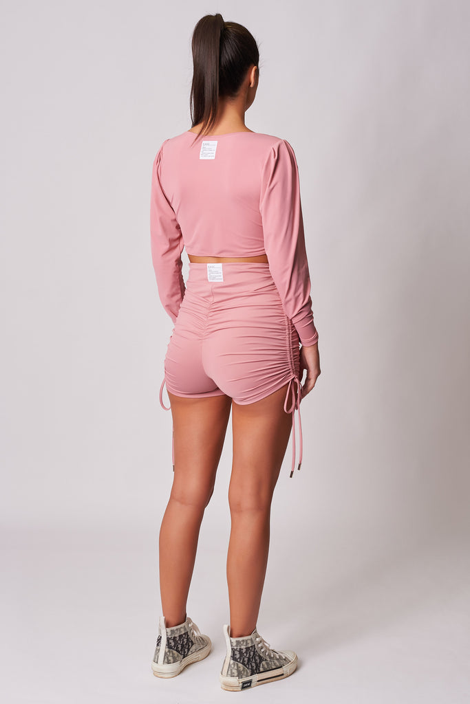PINK-HIGH-WAISTED-DRAWSTRING-DETAIL-BOOTY-SHORT