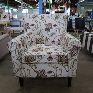 Safavieh Hazina Club Chair - White & Red Flower