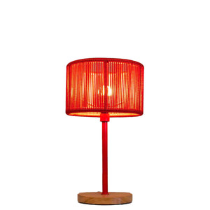 Table Lamp with Crafted Rope Shade