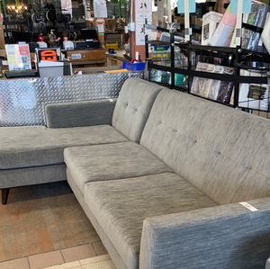 Soft Comfortable Gray Sectional