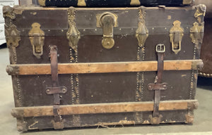 Large Gray Vintage Trunk
