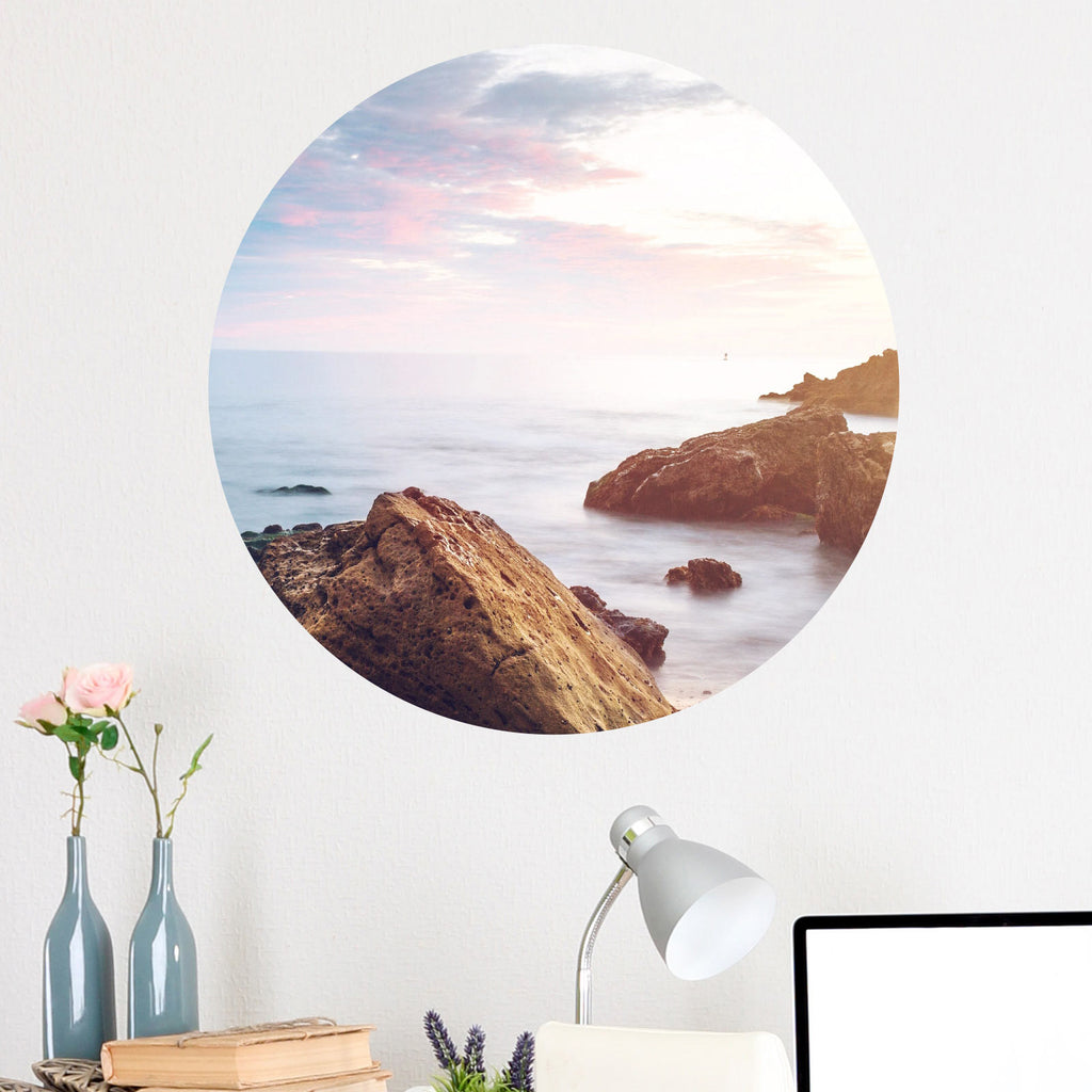 Rocky Shore Circle Wall Decal
