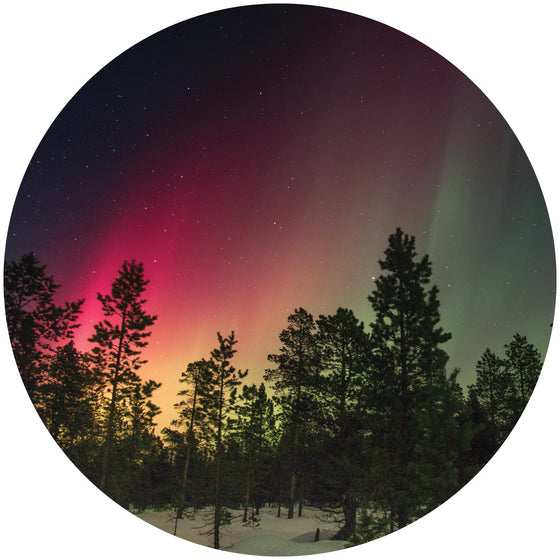 Northern Lights Circle Wall Sticker