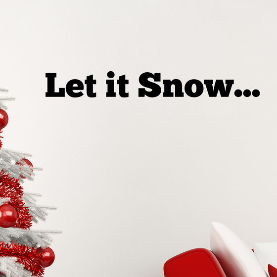Let it Snow Wall Sticker