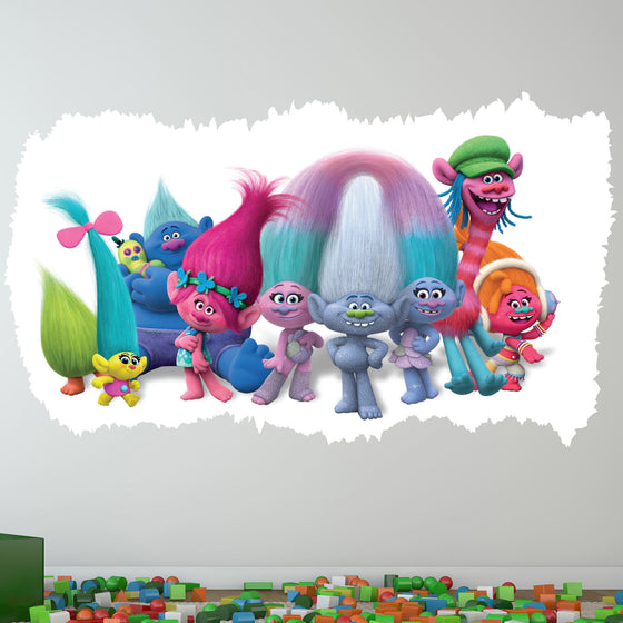 Trolls Movie 3D Wall Sticker