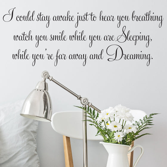 Aerosmith Breathing Song Lyrics Wall Sticker