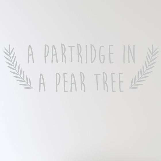 A Partridge in a Pear Tree Wall Sticker