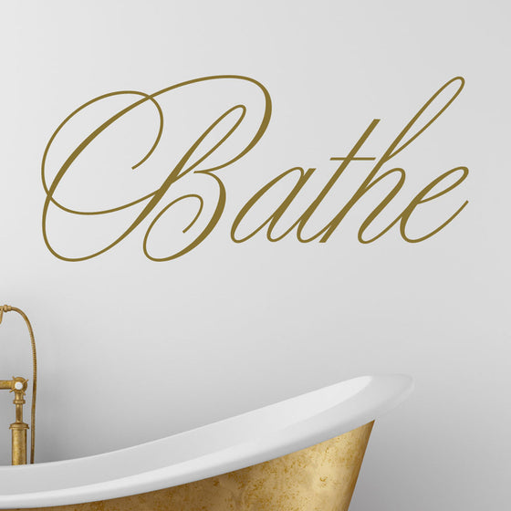 Bathe Bathroom Wall Sticker