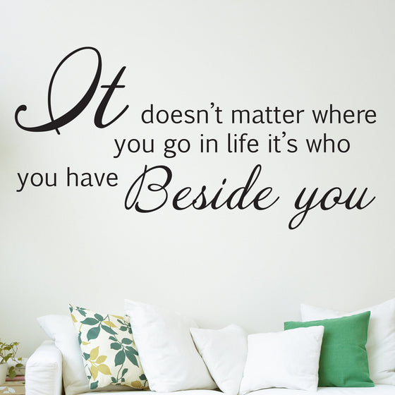 Beside You Romantic Quote Wall Sticker