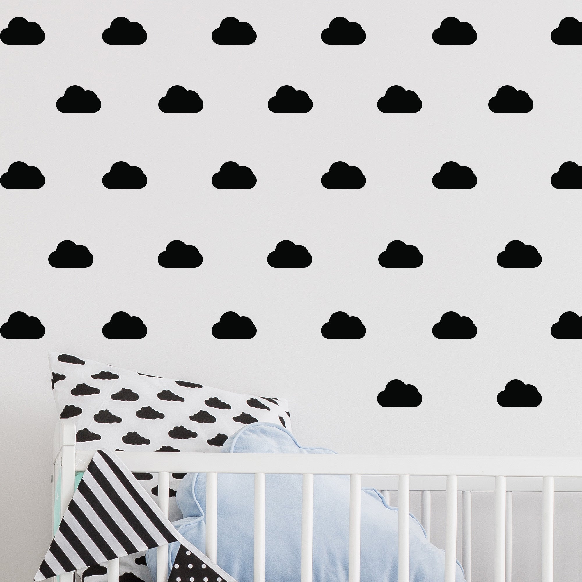 Rainbow Stickers For Walls Mini Clouds Wall Stickers Wallstickers Co Uk