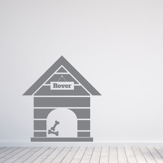 Dog Kennel Personalised Wall Sticker