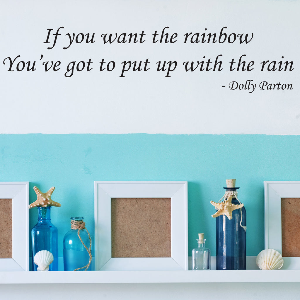 Dolly Parton Rainbow Wall Sticker