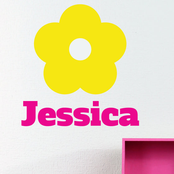 Personalised Flower Wall Sticker