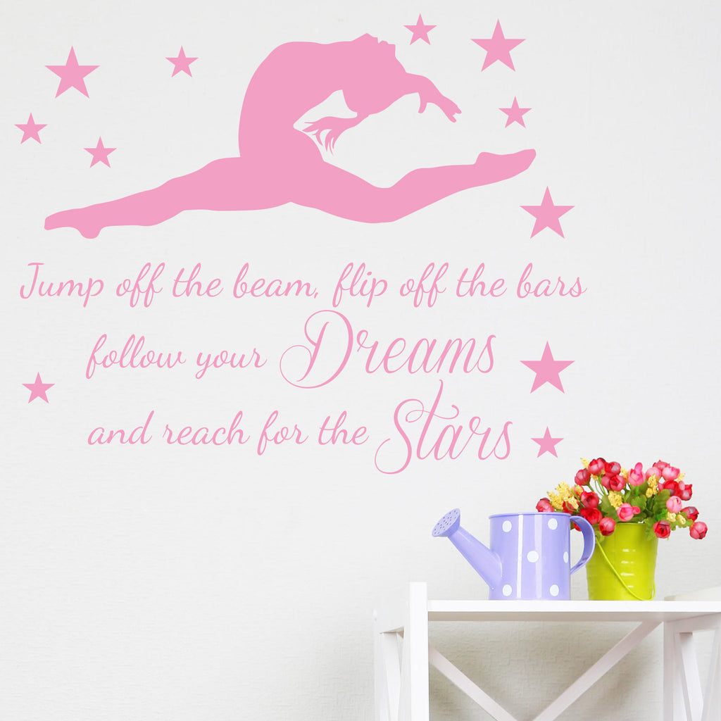 Gymnastics Inspirational Quote Wall Sticker Wallstickers