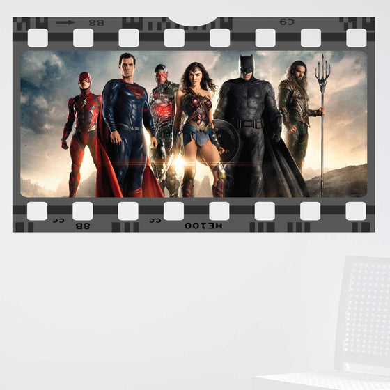 Justice League Film Cell Wall Sticker