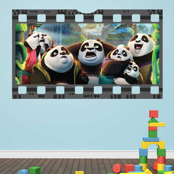 Kung Fu Panda Film Cell Wall Sticker