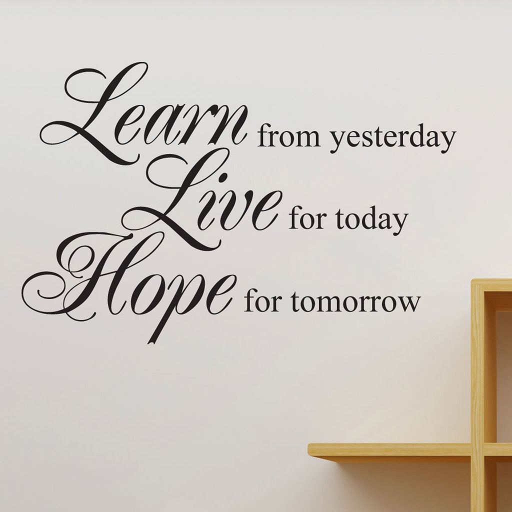 Learn Live Hope Quote Wall Sticker