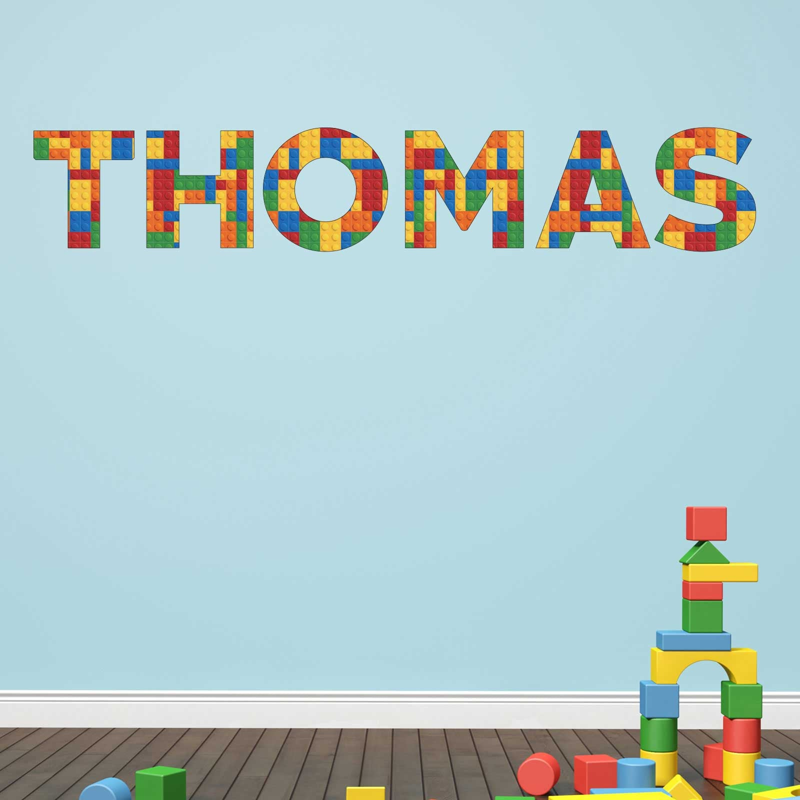 Personalised Lego Brick Wall Sticker ...