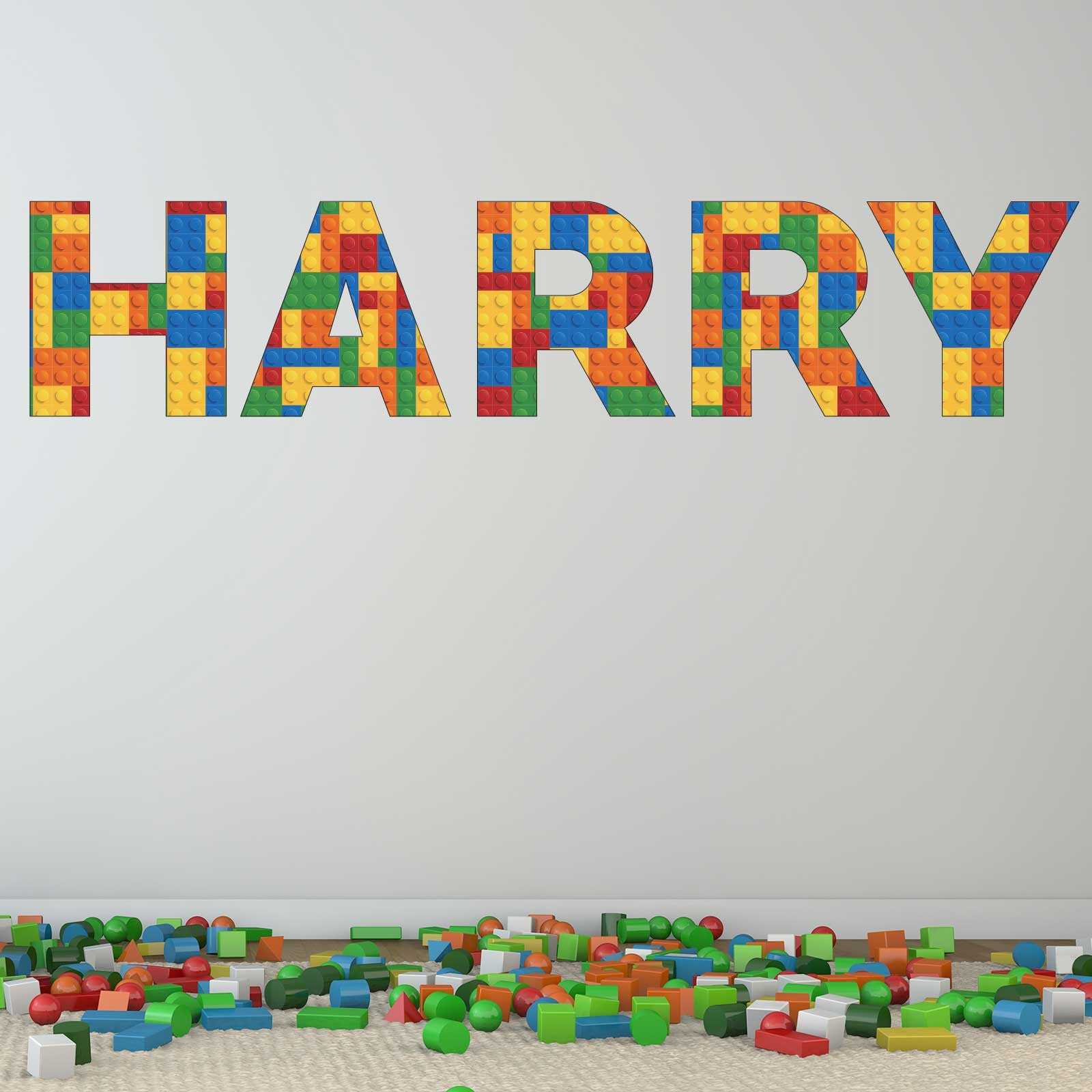 Personalised name lego wall decal