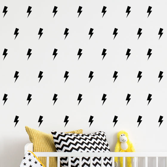 Mini Lightning Bolt Wall Stickers