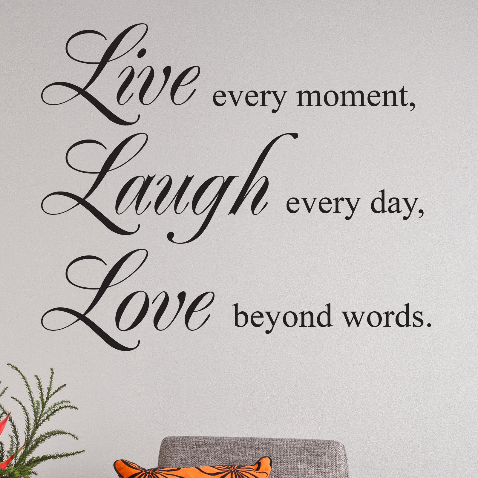 Live Laugh Love Quotes Live Laugh Love Quote Wall Sticker  Wallstickers.co.uk