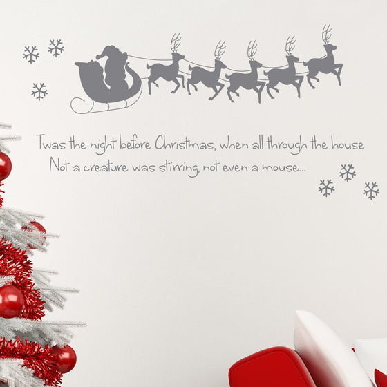 The Night before Christmas Wall Sticker