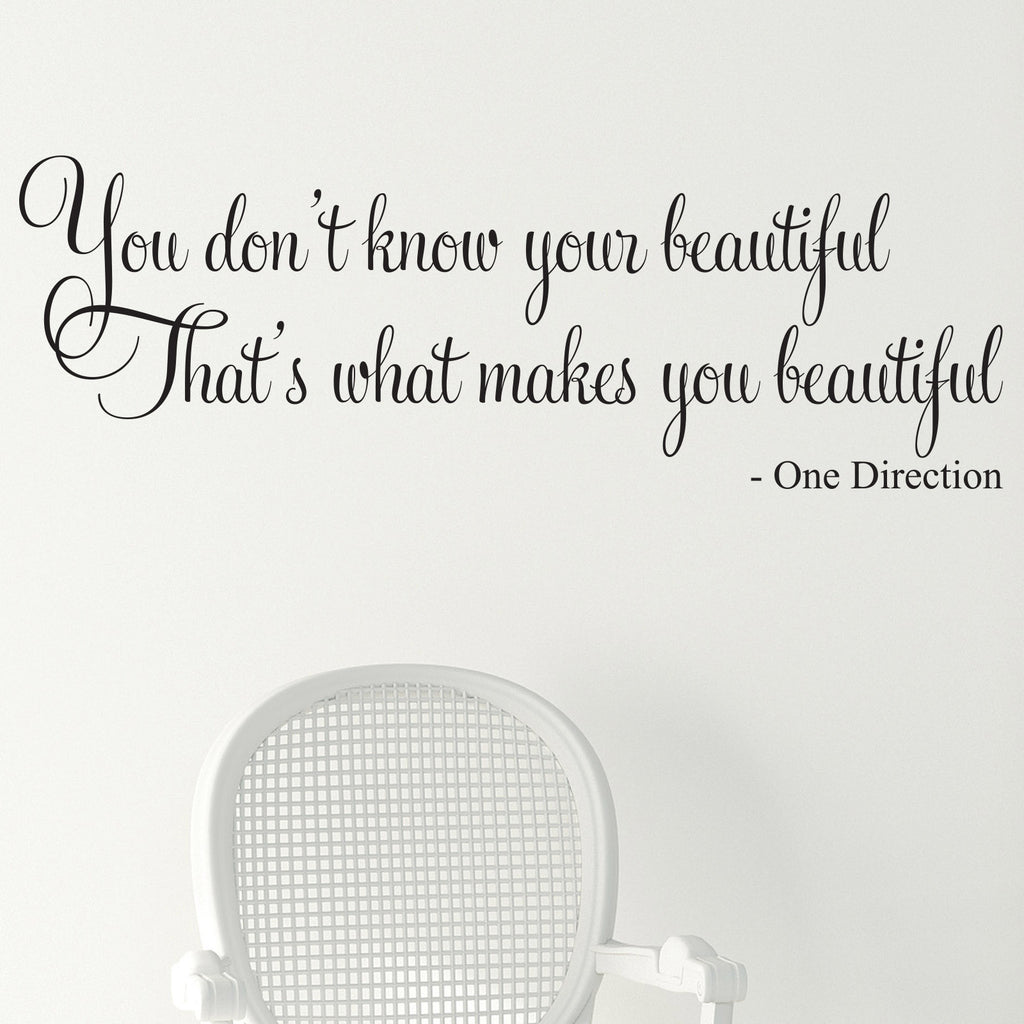 One Direction Beautiful Wall Sticker