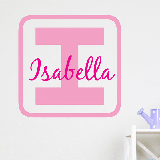 Personalised Kids Building Block Wall Sticker
