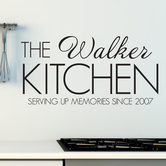 Personalised Family Name Kitchen Wall Sticker